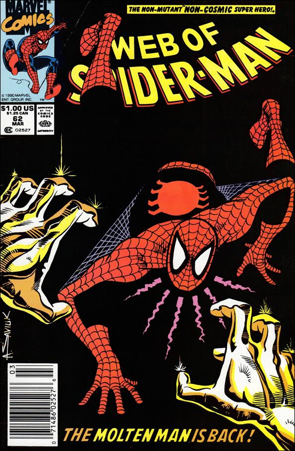 Web of Spider-Man (1985) 62-A by Marvel