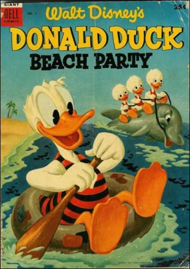 Donald Duck Beach Party 1-A by Dell