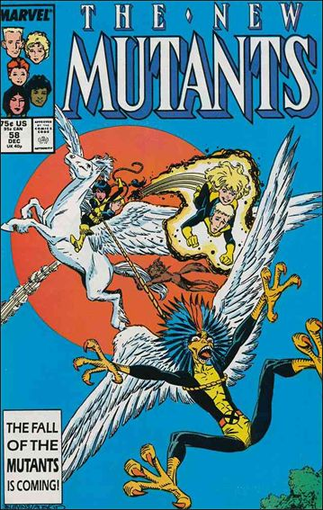 New Mutants (1983) 58-A by Marvel