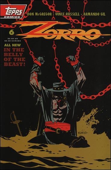 Zorro (1993) 6-A by Topps