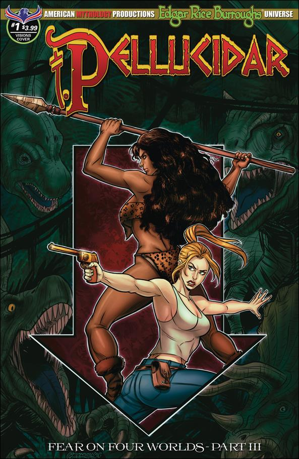 Edgar Rice Burroughs Pellucidar: Fear on Four Worlds 1-B by American Mythology