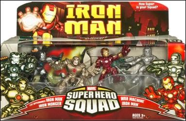 Iron Man - Marvel Super Hero Squad (Box Sets) Iron Monger Attacks 4-Pack by Hasbro