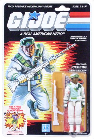 "G.I. Joe: A Real American Hero 3 3/4"" Basic Action Figures Iceberg (Snow Trooper) by Hasbro"