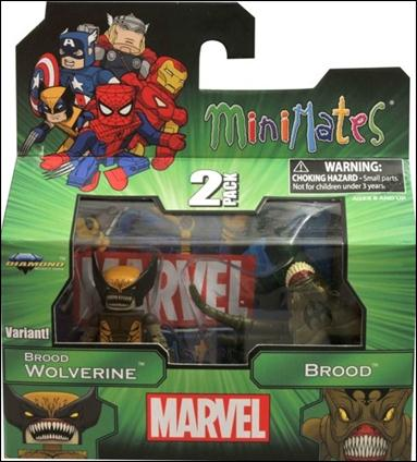 Marvel Minimates Brood Wolverine and Brood by Diamond Select