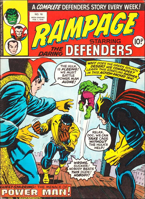 Rampage Weekly (UK) 16-A by Marvel UK