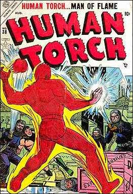 Human Torch (1940) 38-A by Timely