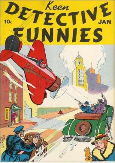 Keen Detective Funnies (1939) 1-A by Centaur Publications Inc.