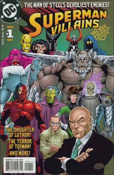 Superman Villains Secret Files 1-A by DC