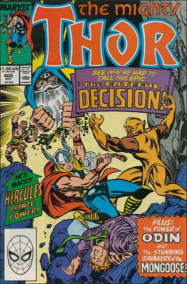 Thor (1966) 408-A by Marvel