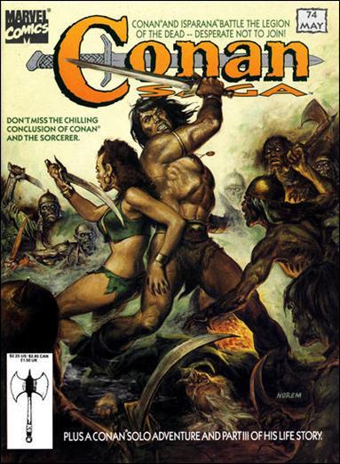 Conan Saga 74-A by Marvel