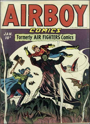 Airboy Comics (1945) 12-A by Hillman
