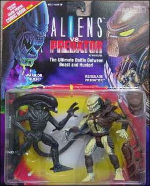 Aliens vs Predator 2-Pack Warrior Alien vs Renegade Predator by Kenner