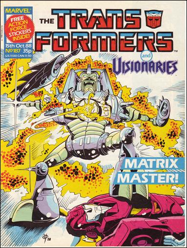 Transformers (UK) 187-A by Marvel UK