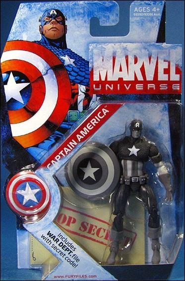 Marvel Universe (Series 1) Black and White Captain America by Hasbro