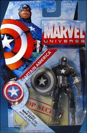 Marvel Universe (Series 1) Black and White Captain America