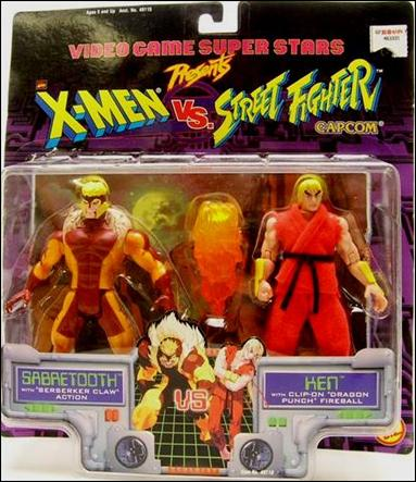 X-Men vs Street Fighter Sabretooth vs Ken by Toy Biz