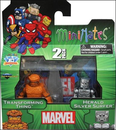 Marvel Minimates (Exclusives) Transforming Thing and Herald Silver Surfer by Diamond Select