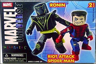 Marvel Minimates Ronin and Riot Attack Spider-Man by Diamond Select