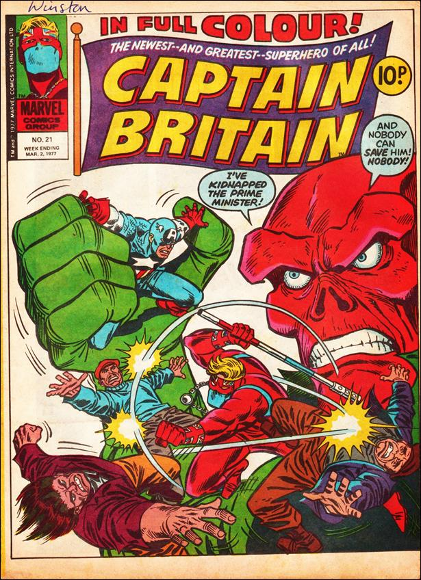Captain Britain (UK) (1976) 21-A by Marvel UK