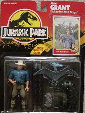 Jurassic Park (Movie) Action Figures Alan Grant (Aerial Net) by Kenner