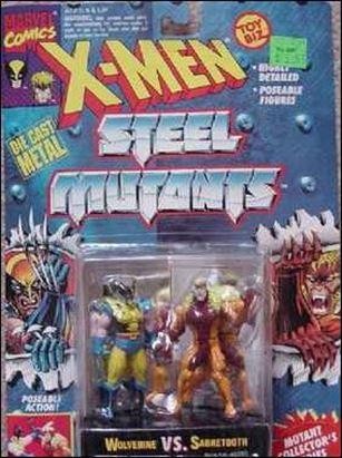 X-Men Steel Mutants (2-Packs) Wolverine vs Sabretooth