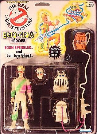 Real Ghostbusters: Ecto-Glow Heroes Egon Spengler and Jail Jaw Ghost by Kenner