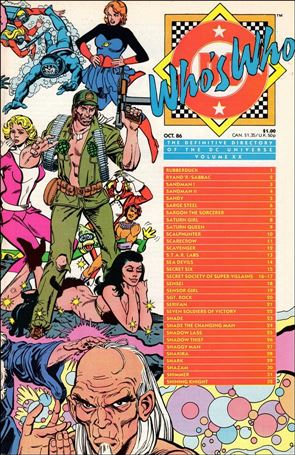 Who's Who: The Definitive Directory of the DC Universe 20-A