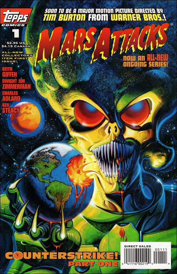 Mars Attacks (1995) 1-A by Topps