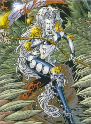 Lady Death and the Women of Chaos!: Love Bites (Base Set) 5-A by Comic Images