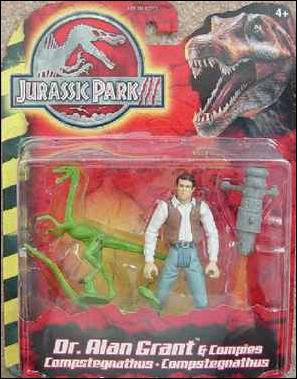Jurassic Park III (Movie) Action Figures Dr. Alan Grant & Compies by Hasbro
