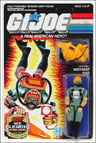 "G.I. Joe: A Real American Hero 3 3/4"" Basic Action Figures Wet-Suit (SEALS) by Hasbro"