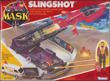 M.A.S.K.  (Vehicle and Figure Sets) Slingshot (w/ Ace Riker) by Kenner