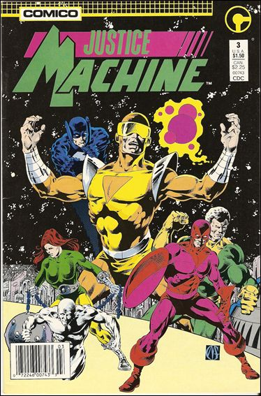 Justice Machine (1987) 3-A by Comico