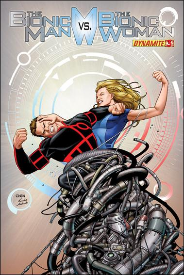 Bionic Man vs the Bionic Woman 3-A by Dynamite Entertainment