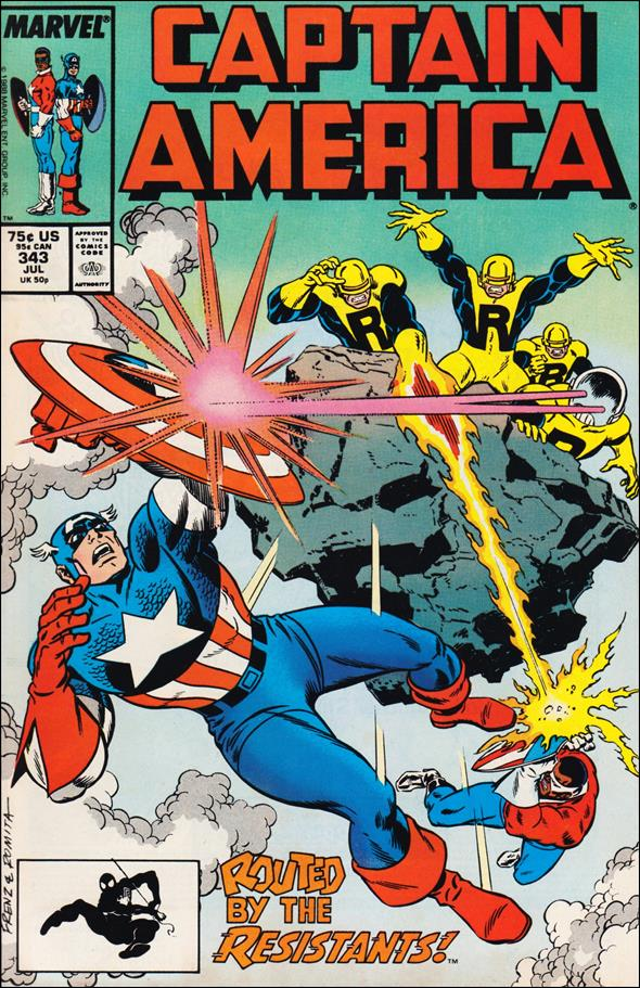 Captain America (1968) 343-A by Marvel