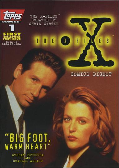 X-Files Comics Digest 1-B by Topps