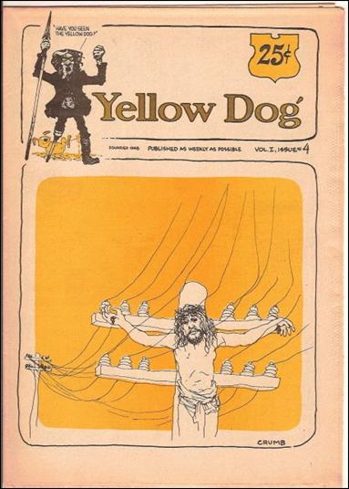 Yellow Dog 4-A by Print Mint