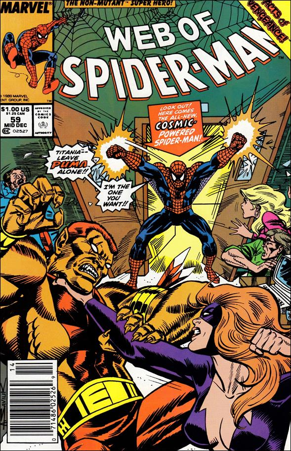 Web of Spider-Man (1985) 59-A by Marvel
