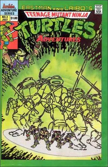 Teenage Mutant Ninja Turtles Adventures (1989) 3-A by Archie