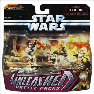 Star Wars: Unleashed Multi-Figure Battle Packs Battle of Utapau - Clone Trooper Attack Battalion