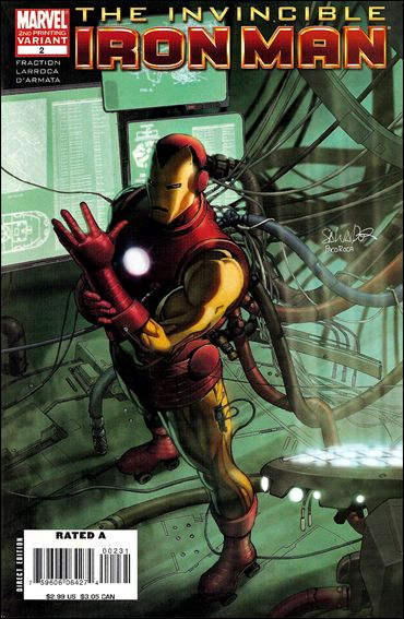 Invincible Iron Man (2008) 2-C by Marvel