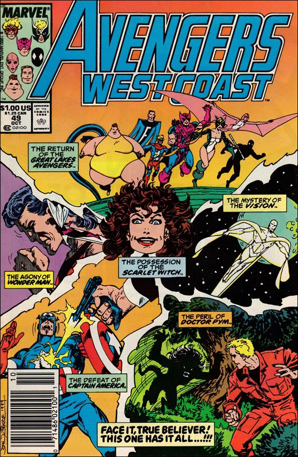 Avengers West Coast 49-A by Marvel