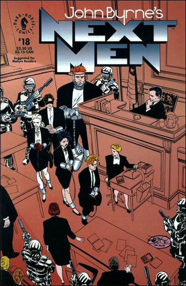 John Byrne's Next Men (1992) 18-A by Dark Horse