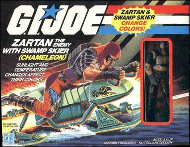 G.I. Joe: A Real American Hero 3 3/4&quot; Basic Vehicles and Playsets Zartan (w/ Swamp Skier &amp;quot;Chameleon&amp;quot;) by Hasbro