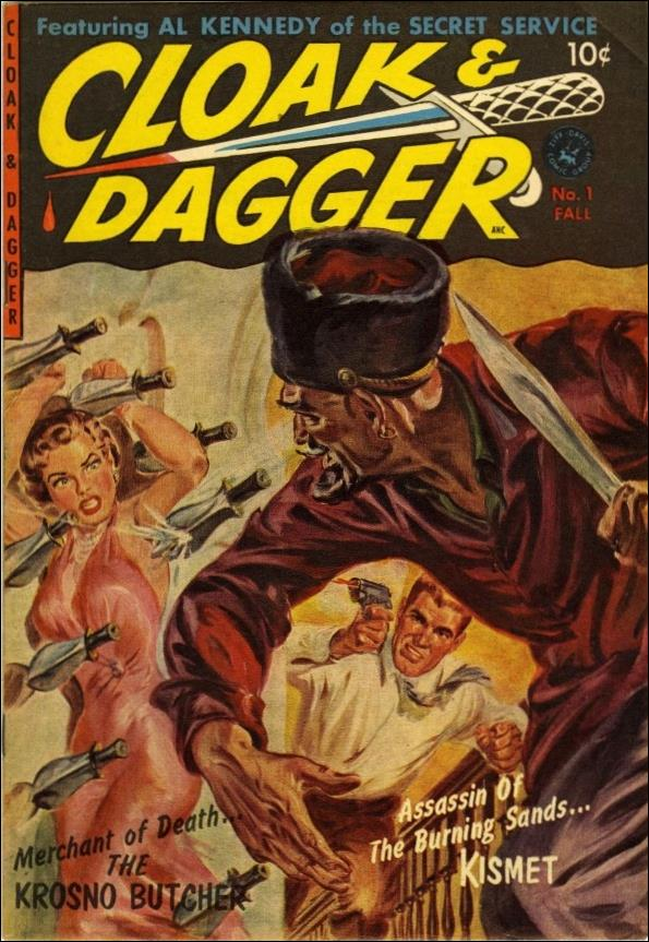 Cloak and Dagger (1952) 1-A by Ziff-Davis