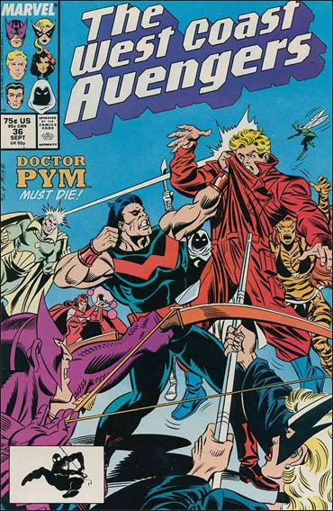 West Coast Avengers (1985) 36-A by Marvel