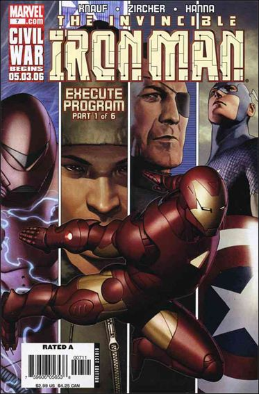 Invincible Iron Man (2005) 7-A by Marvel