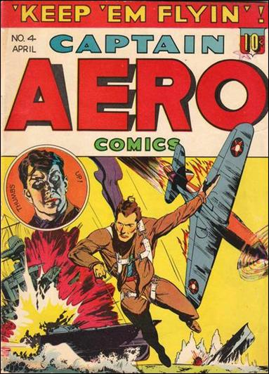 Captain Aero Comics 4-A by Continental Magazines