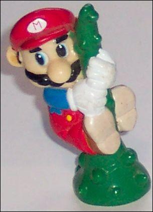 Nintendo Figurines Mario w/beanstalk (Black Hair) by Applause