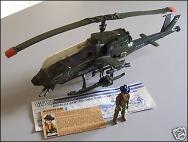 "G.I. Joe: A Real American Hero 3 3/4"" Basic Vehicles and Playsets Dragonfly (Assault Copter XH-1) by Hasbro"